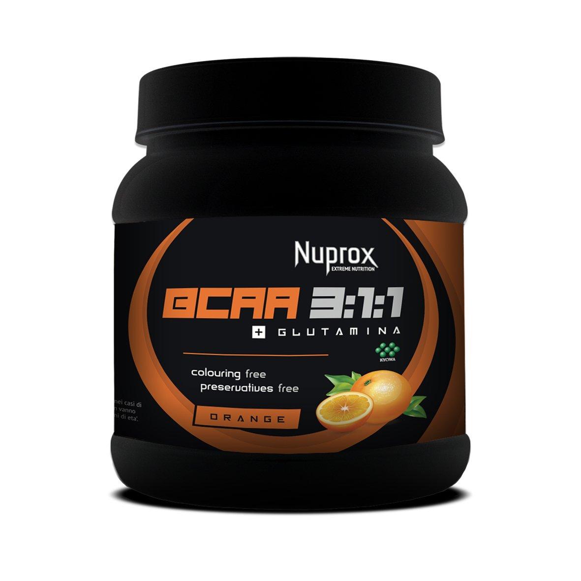 BCAA 3-1-1 + Glutamina 500 g_NARANJA