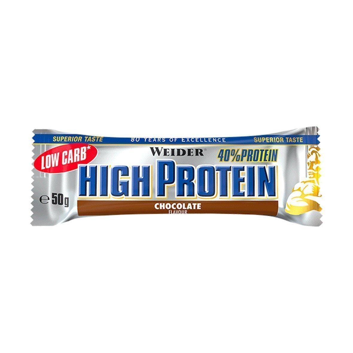Weider 40% Low Carb High Protein Bar 1 barrita x 50gr